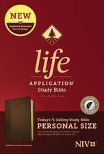 NIV Life Application Study Bible, Third Edition, Personal Size (Leatherlike, Dark Brown/Brown, Indexed)