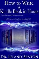 How to Write a Kindle Book in Hours