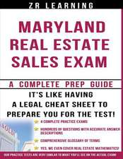 Maryland Real Estate Sales Exam - 2014 Version