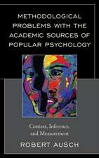 Methodological Problems with the Academic Sources of Popular Psychology