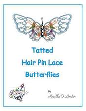 Tatted Hair Pin Lace Butterflies