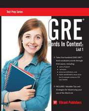 GRE Words in Context