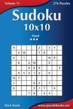 Sudoku 10x10 - Hard - Volume 11 - 276 Puzzles