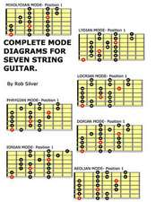 Complete Mode Diagrams for Seven String Guitar