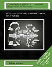 97-00 Volkswagen Sharan Tdi - 110hp Turbocharger Rebuild and Repair Guide