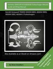 Komatsu Sa4d105 6131828200 Turbocharger Rebuild Guide and Shop Manual