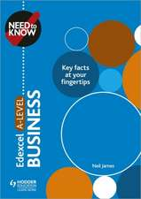 Need to Know: Edexcel A-level Business