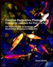 Creative Decorative Photography Ornamental Japanese Koi Fish in a Pond