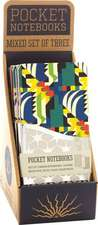 Kaleiedoscope - A Pack of 3 Memo Notebooks with Geometric Art Deco Designs - Counter Display with 6 Pieces Total.
