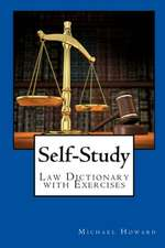 Self-Study Law Dictionary and Exercise Book