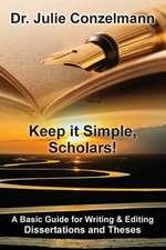 Keep It Simple, Scholars!