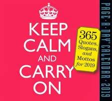 Keep Calm and Carry On 2019 Page-A-Day Calendar
