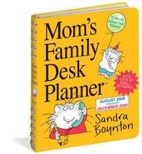 Mom's Family Desk Planner Calendar 2019