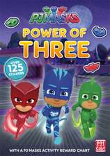 PJ MASKS POWER OF 3 STICKER BOOKS