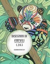 Disegnini Di Animali Libro Da Colorare Per Adulti 1, 2 & 3