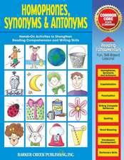 Reading Fundamentals - Homophones, Synonyms & Antonyms