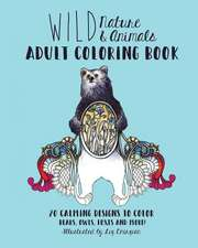 Wild Nature & Animals Adult Coloring Book