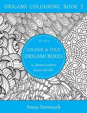 Colour & Fold Origami Boxes - 15 Abstract-Pattern Boxes with Lids