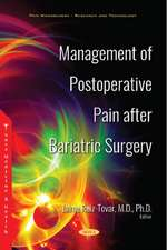 Management of Postoperative Pain after Bariatric Surgery