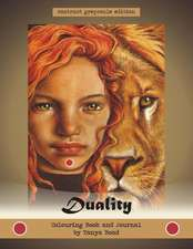 Duality - Colouring Book and Journal by Tanya Bond - Contrast Greyscale Edition