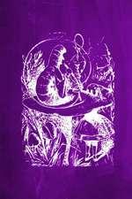 Alice in Wonderland Chalkboard Journal - Alice and the Caterpillar (Purple)