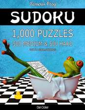 Famous Frog Sudoku 1,000 Puzzles with Solutions, 500 Medium and 500 Hard