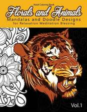 Florals and Animals Mandalas and Doodle Designs