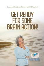 Get Ready for Some Brain Action!   Crossword Books for Seniors (with 70 Puzzles!)