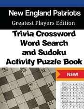 New England Patriots Trivia Crossword, Wordsearch & Sudoku Activity Puzzle Book