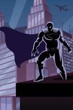 Night Hero Blank Book
