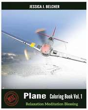 Plane Coloring Books Vol.1 for Relaxation Meditation Blessing