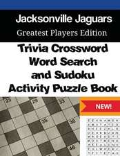 Jacksonville Jaguars Trivia Crossword, Wordsearch and Sudoku Activity Puzzle Boo