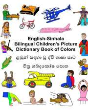 English-Sinhala Bilingual Children's Picture Dictionary Book of Colors