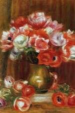 150 Page Lined Journal Anemones, 1909 Pierre Auguste Renoir