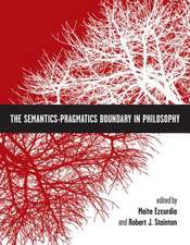 The Semantics-Pragmatics Boundary in Philosophy