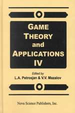 Game Theory & Applications: Volume 4