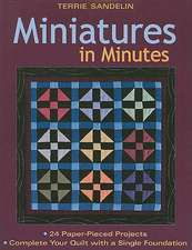 Miniatures in Minutes:  24 Paper-Pieced Projects-Complete Your Quilt with a Single Foundation [With Pattern(s)]