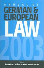 Annual of German and European Law (Agel):  Volume I
