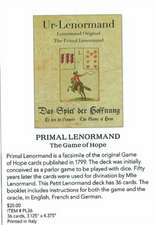 Primal Lenormand the Game of Hope:  Guidance for Living a Unique & Authentic Life