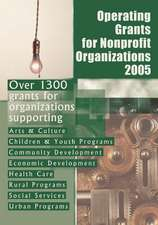 Operating Grants for Nonprofit Organizations 2005