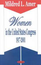 Women in the United States Congress 1917-2001