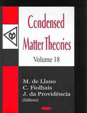 Condensed Matter Theories, Volume 18