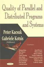 Quality of Parallel & Distributed Programs & Systems