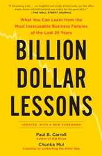 Billion-dollar Lessons