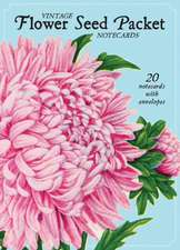 Vintage Flower Seed Packet Note Cards:  20 Note Cards with Envelopes
