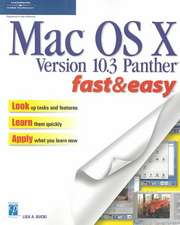 MAC OS X V 10.3 Panther F and E