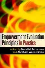 Empowerment Evaluation Principles in Practice