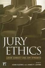 Jury Ethics:  Terrorism, War, and Election Battles