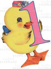 Baby Chick - 1st Birthday - Greeting Card
