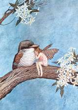 Fairy & Bird Embracing - Fairy Greeting Card